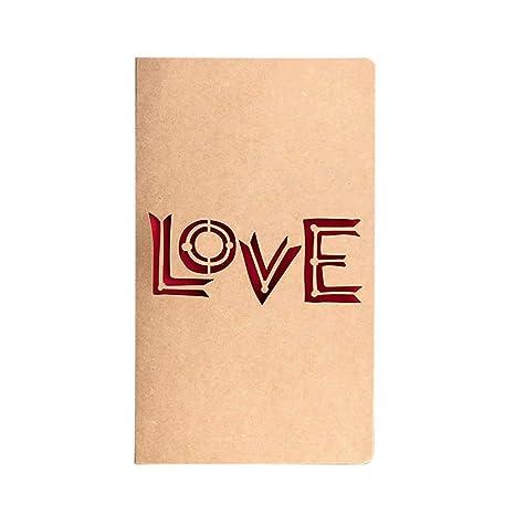 Creative Laser Cut Vintage Kraft Paper Hollow Tarjeta de ...