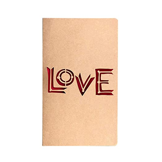 Creative Laser Cut Vintage Kraft Paper Hollow Tarjeta de ...