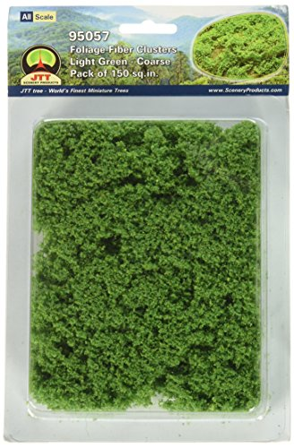 JTT Landscaping Material - Foliage Fiber Clusters, Light Green, Coarse