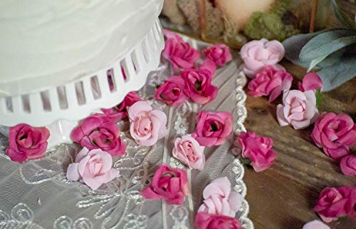 Artificial Flowers, Silk Rose Bud Wedding Decoration, DIY Party Decor, Floral Baby Shower Table Decorations, Bridal Shower Decor