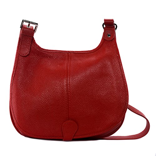 Red Model 26 8 X 30 Light Handbag Led Cm Leather Shoulder Petra X a7FFqp