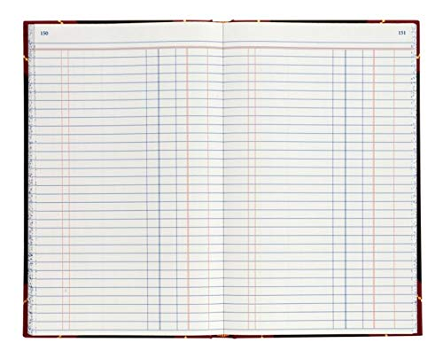 Office Depot Brand Hardbound Book, 11 3/4'' x 7 1/4'', Journal, Single Entry Ledger Ruling, 300 Pages (150 Sheets)