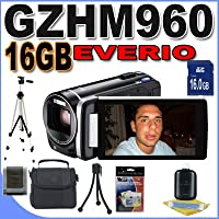 JVC GZHM960BUS GZHM960 Camcorder with 10x Optical Zoom and 3.5-Inch LCD Screen (Black) Accessory Saver 8GB Bundle