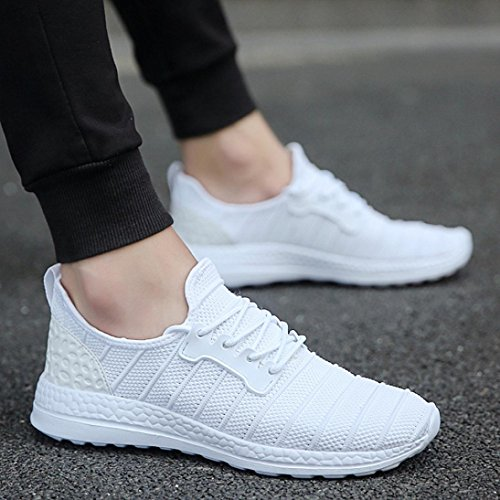 fasloyu Shoes Unisex Fashion Simple Light Summer Sneakers Beathable Mesh Running Shoes Casual Travel Shoes 46 0xS3WMvIVk