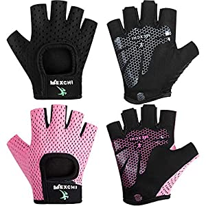 2 Pairs Workout Gloves Adjustable...