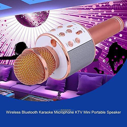 FidgetGear Mini KTV Microphone Wireless Bluetooth Karaoke Home Mic USB Music Speaker Player from FidgetGear