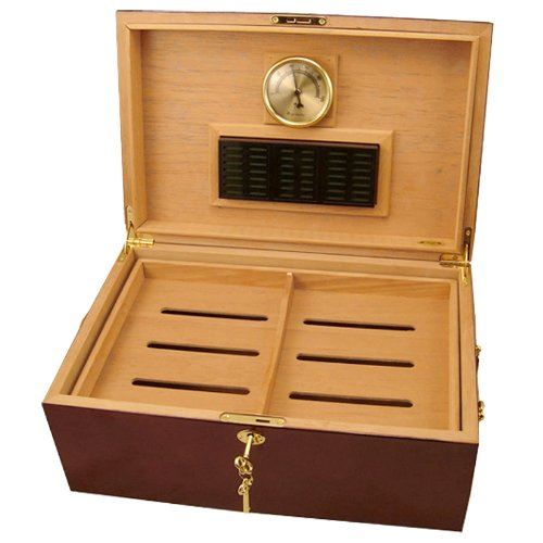 Cuban Crafters Perfecto Cherry Cigar Humidor 120 Count (Crafters Humidor Cuban)