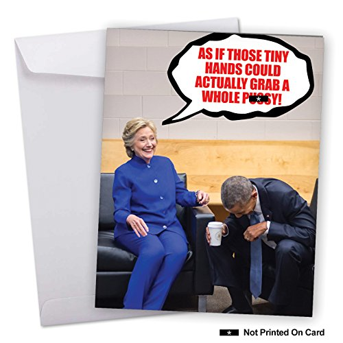 Election Card (J3881BDG Jumbo Funny Birthday Card: Trump's Tiny Hands Grab With Envelope (Extra Large Version: 8.5'' x 11''))