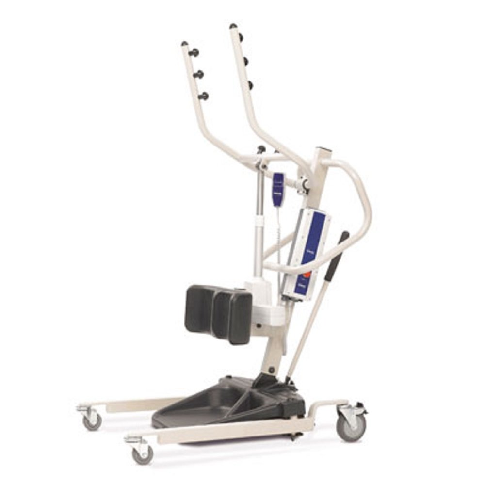 Power Stand Up Patient Lift (Invacare Reliant 350 Stand-Up Lift - RPS3501 w/(FREE Invacare Transport Chair Red - ALB19HBFR, a $405.00 value)