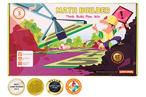 LogicRoots Math Builder Equation Building# Board Game Stem Toy Math Manipulative -
