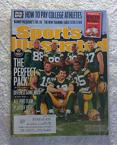Aaron Rodgers & The Green Bay Packers Team - The Perfect Pack - Sports Illustrated - November 7, 2011 - St. Louis Cardinals 2011 World Series Champions! - SI