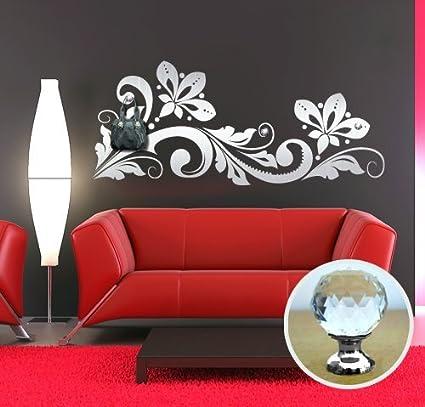 Appendiabiti Con Pomelli.00461 Adesivo Murale Con Pomelli Stile Swarovski Per Appendiabiti