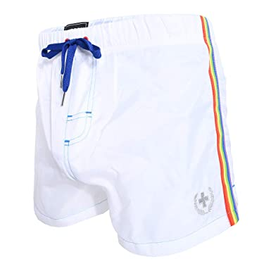 69ed12a9e3 Image Unavailable. Image not available for. Color: Andrew Christian  Athletic Pride Swim Shorts ...