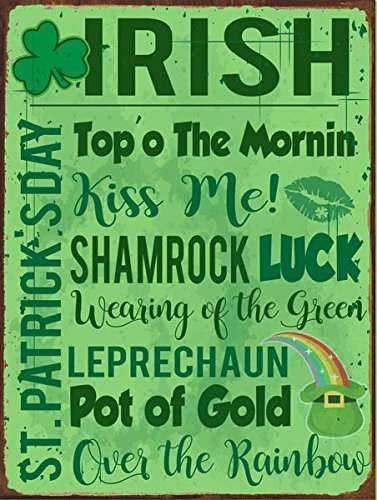 Irish Metal Sign, Ireland, St. Patricks Day, Luck, Humor