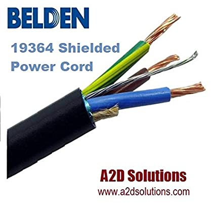 Amazon.com: Belden 19364 3 Conductor 14 AWG Portable Cordage- UL/CSA ...