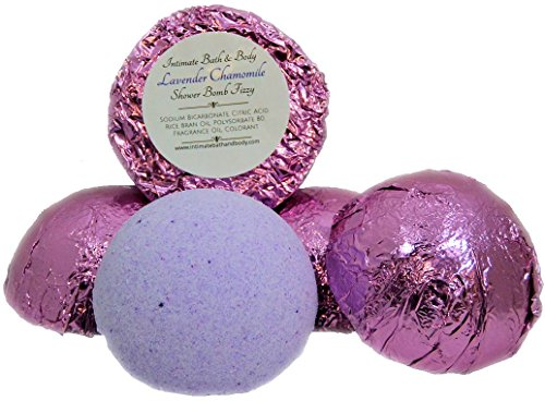 Shower Bomb Fizzies! 5 Pack Aromatherapy Shower Steamers - Lavender Chamomile