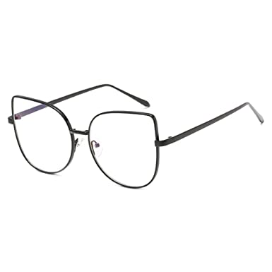 2974b1390a Men Women Cat Eye Glasses - Clear Lens Glasses Frame - Fashion Eyeglasses  Eyewear - hibote