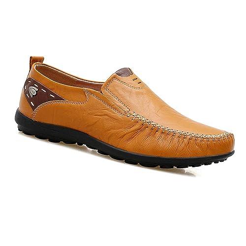 Yudesun Zapatos para Hombre Mocasines - Náuticos Ligero Confortable Suela Blanda Cuero Casual Moda Zapatos de Trabajo Conducir: Amazon.es: Zapatos y ...
