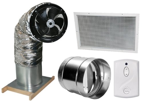 Centric Air 1.5B Whole House Fan Includes Wireless Remote Control With (Butterfly Damper)