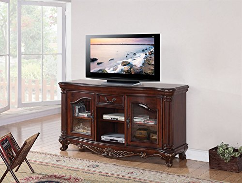 ACME Remington Brown Cherry TV Stand (Country Stand French Tv)