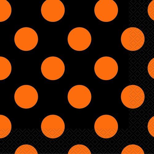 Orange Black Halloween Beverage Napkins product image