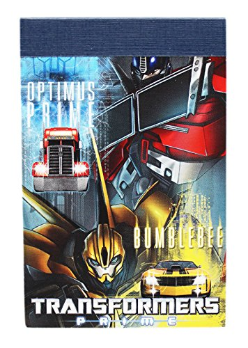 - Transformers Prime Optimus Prime and Bumblebee Cover Notepad (30 Sheets)