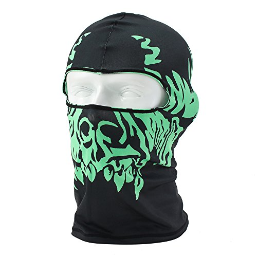 Coxeer® Motorcycle Cycling Lycra Balaclava Full Face Mask for Sun UV Protection (BW-009)