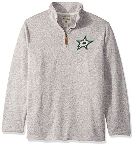 adidas NHL Dallas Stars Mens Ccm 1/4 Zipccm 1/4 Zip, Grey Heathered, X-Large