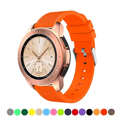 (Minggo Band Compatible with Samsung Galaxy Watch(42mm), 20mm Band Replacement for Women Men (Orange))