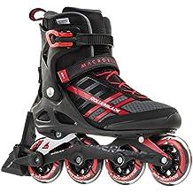 Rollerblade Macroblade 84 ABT Men's Adult Fitness Inline Skate, Black and Red, Performance Inline Skates