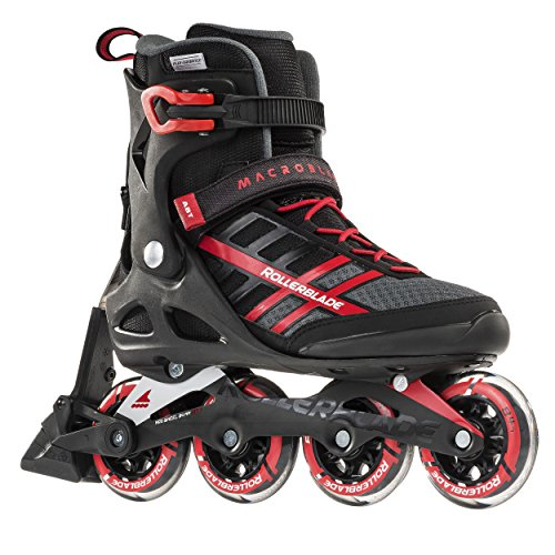 Rollerblade Macroblade 84 ABT Men's Adult Fitness Inline Skate, Black and Red, Performance Inline Skates, US size 11