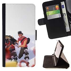 Momo Phone Case / Flip Funda de Cuero Case Cover - Team Fort Tf 2 Tf2 Gaming - Samsung Galaxy A5 ( A5000 ) 2014 Version