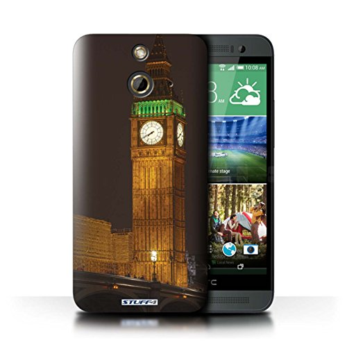 Kobalt® Imprimé Etui / Coque pour HTC One/1 E8 / Big Ben conception / Série Londres Angleterre