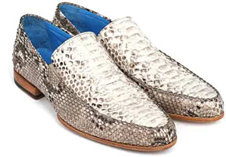 e86818a010a Paul Parkman Men s Natural Genuine Python Loafers Shoes (ID 11NAT78)