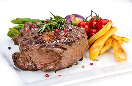 Tasty Beef Steaks Wall Decal - 30 Inches W x 20 Inches H - Peel and Stick Removable Graphic
