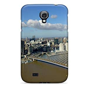 Special NikRun Skin Case Cover For Galaxy S4, Popular Erasmus Bridge Rotterdam Phone Case