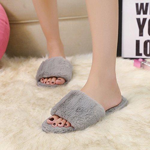 Plates d'été Sandales Talons de Yesmile Chaussures Pantoufles Poilu Sandales à Flip Été Chaussures Belle Coulissant Femme 2018 chaussure Bloc Moelleux Yw8E8qv