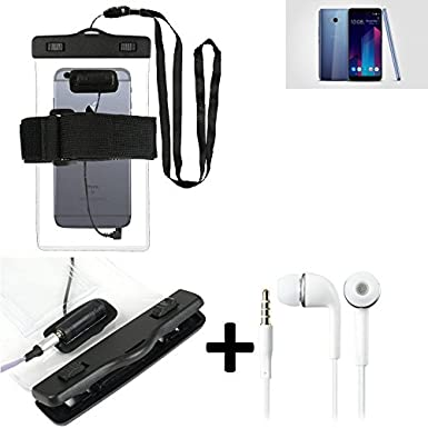 meet f9ed9 00f17 K-S-Trade Waterproof Case with earphone inlet for HTC U11 Plus + ...
