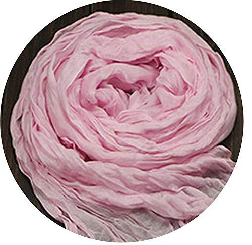 Doris Batchelor Comfy Women Cotton & Linen Blended Solidss Fold Candy color Femme Scarves,fruitgreen,Pink from Doris Batchelor Fashion-scarves