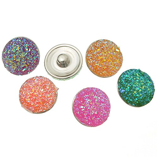 [Sunne Mixed Color DIY Snap Button Jewelry Charms 18mm Pack of 12pcs] (Turkish Belly Dance Costumes For Sale)