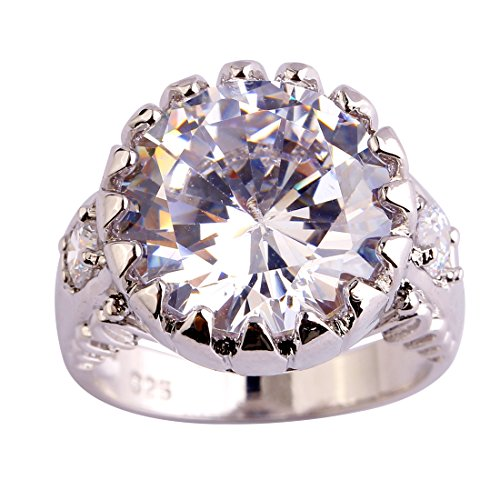 Plated Created Diamond Hearts Ring - Narica Sterling Silver Women's Round Cut White Topaz Engagement Ring