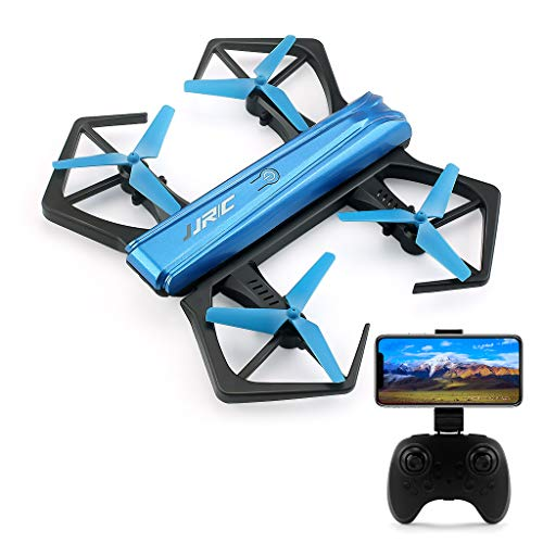 Foldable Drones H43P, RC Quadcopter with 720P HD Camera Live Video WIFI FPV, Mini Drone  with Headless Mode, Altitude Hold ,3D Flips, Drones with 2 Batteries (7mins +7 mins).