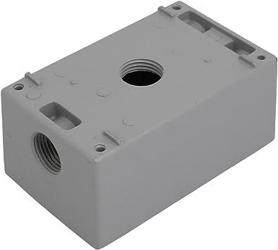 sourcingmap Carcasa de Caja de empalme eléctrico de salida gris 1/2BSP 4 Orificios de rosca 1 Banda: Amazon.es: Bricolaje y herramientas