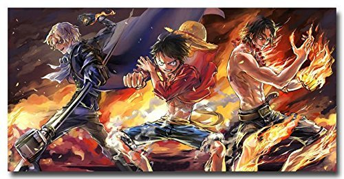 Tomorrow sunny One Piece Luffy ACE 2015 Anime Art Silk Poster Print 24x13 inches 010