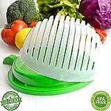 60 Second Salad Cutter Bowl, Salad Maker, Salad Bowl, Vegetable Salad chopper, Salad Shooter, Salad Server-Make Your Salad in 60 Seconds (Green)