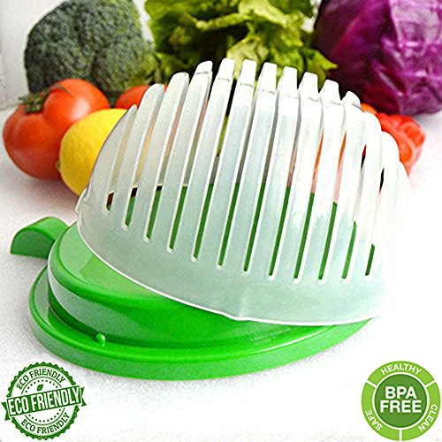 60 Second Salad Cutter Bowl, Salad Maker, Salad Bowl, Vegetable Salad chopper, Salad Shooter, Salad Server-Make Your Salad in 60 Seconds by - Friday Black Shooters