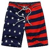 Danna Belle Boys Swim Shorts Stars and Stripes American Flag Swimming Trunk 7-8Yrs DB50-2