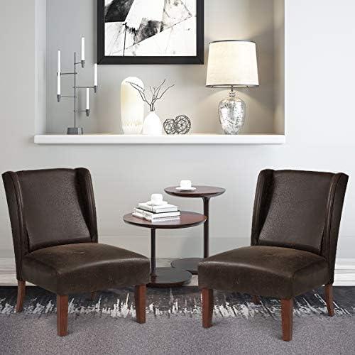 Giantex Leather Accent Chair - a good cheap living room chair