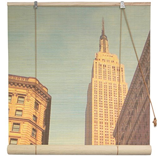 Oriental Furniture Empire State Building Bamboo Blinds - (48 in. x 72 in.) (Design View Bamboo Shades)
