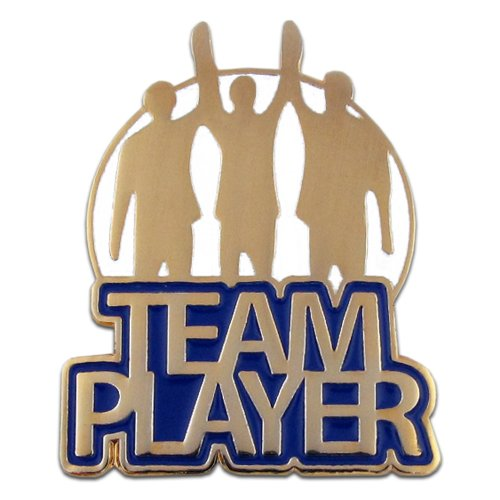 Motivational Pin - PinMart Team Player Corporate Recognition Motivational Lapel Pin